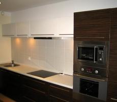 Na zdjęciu: Kuchnia ciemna poziome ujęcie