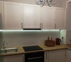 Na zdjęciu: Kuchnia poziome ujęcie szeroki kąt