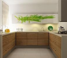 Na zdjęciu: Wizualizacja kuchni ciemna poziome ujęcie