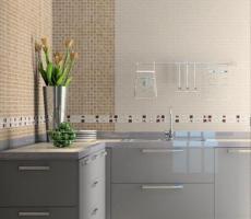 Na zdjęciu: Wizualizacja kuchni z szarymi frontami